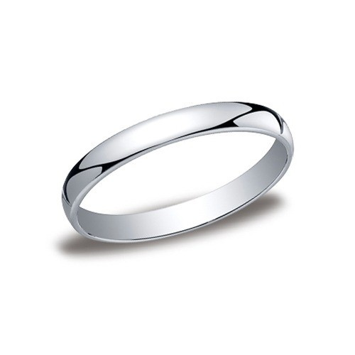 14K White Gold Comfort Fit Band 3 Mm