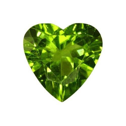 Heart Shape Synthetic Peridot