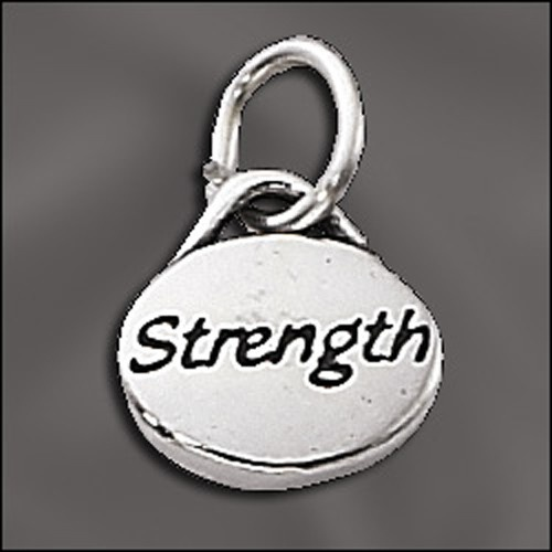Sterling Silver Message Charm - Strength
