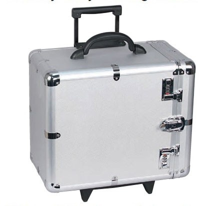 """Aluminum Rolling Cases W/Side Access (Holds 12 1"""" H Standard Trays), 16.38"""" L X 10.5"""" w"""