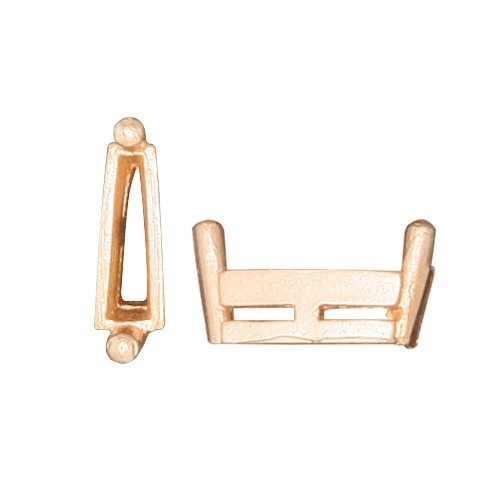 14K Yellow Tapered Baguette Setting W/ Airline & Single Prong