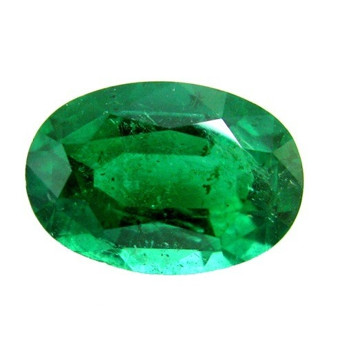 Oval Synthetic Emerald