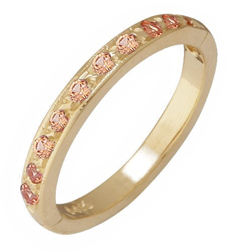 14K Yellow Gold Tsavorite Toe Ring