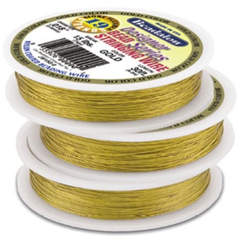 """Bead Wire 19 Strand Gold Plated 0.018"""""""