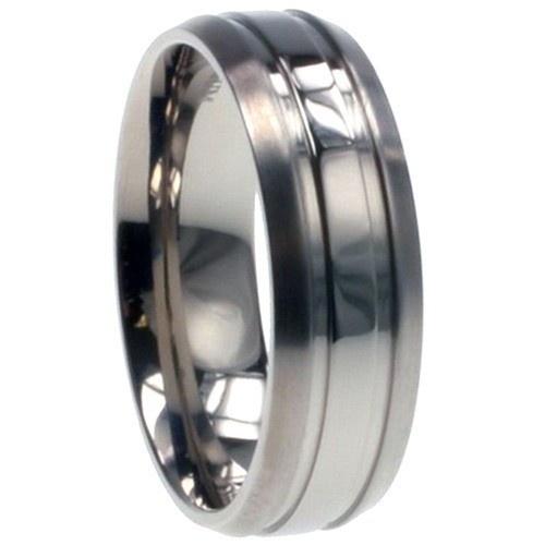 Titanium Ring W/ Combination Matte/Shiny Polish