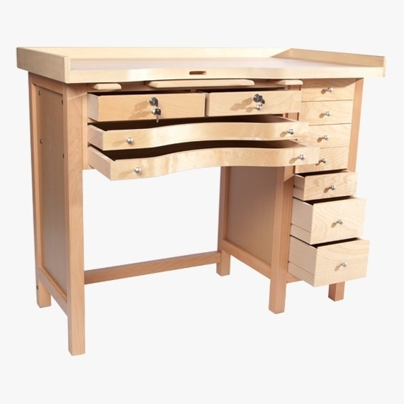 Jeweler's Bench With Multiple Drawers, Made In Usa
