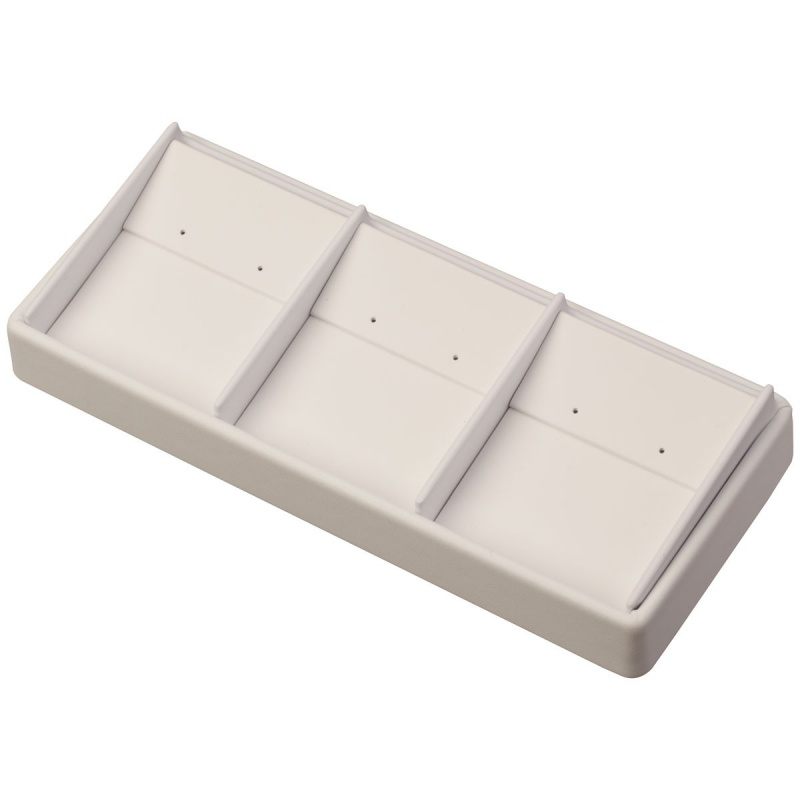 """3-Compartment Stackable Drop Earring Trays, 8.5"""" L X 3.5"""" w"""