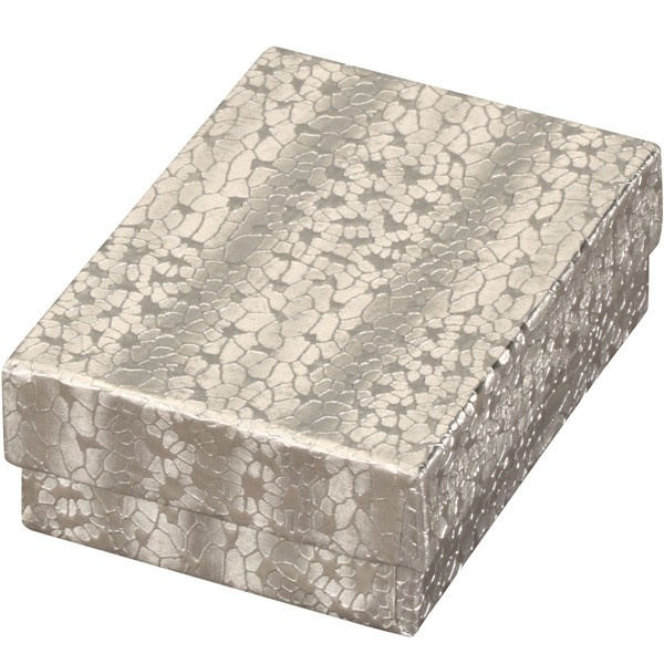Cotton-Filled Gift Box In Silver Foil