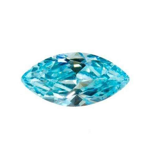 Marquise Synthetic Aquamarine
