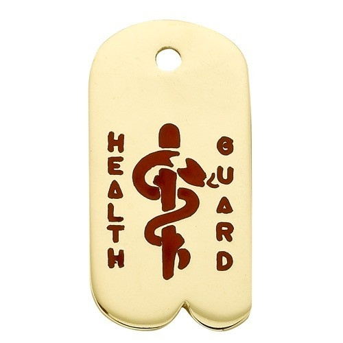 14K Yellow Health Guard