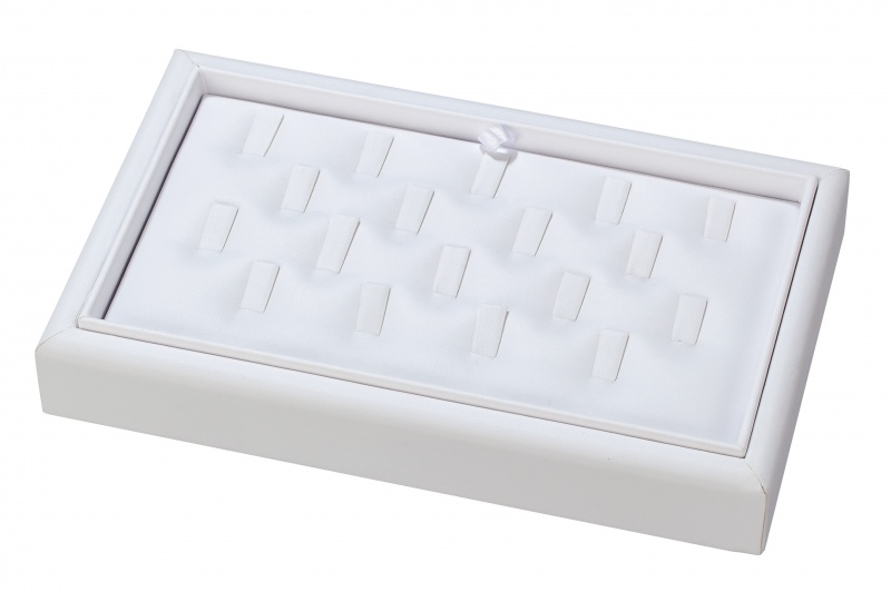 """18-Clip Stackable Ring Trays, 9"""" L X 5.5"""" w"""