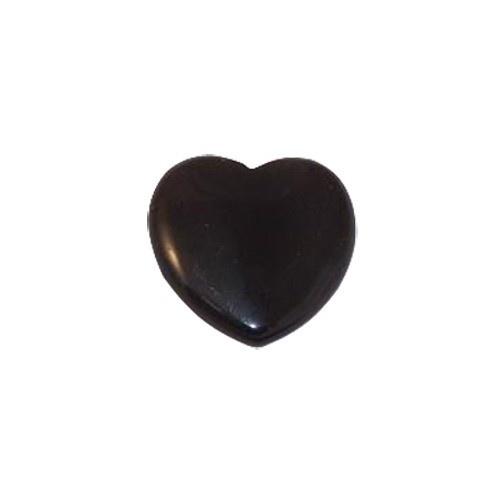 Heart Shape Flat Back Onyx
