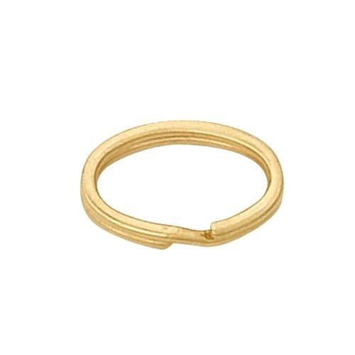 14K Yellow Oval Split Ring