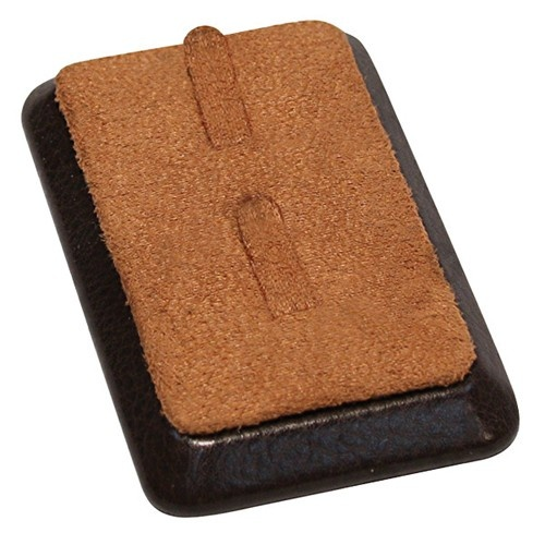 """2-Clip Ring Bar Displays (Vertical Orientation) In Cocoa & Umber, 2.75"""" L X 3.5"""" w"""