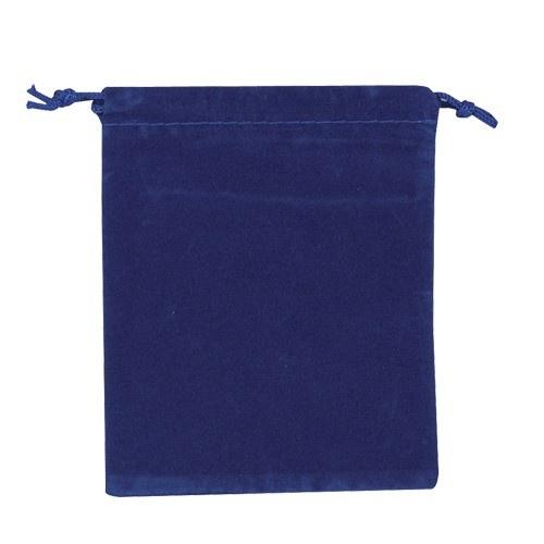 Blue Velour Drawstring Pouches