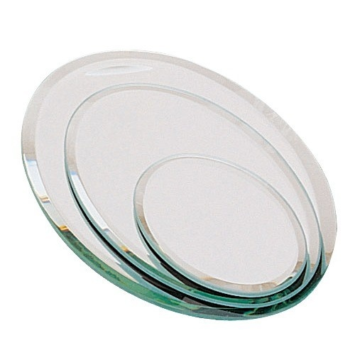 """3-Piece Set Of Oval Beveled Mirrors, 2 - 7"""" w"""