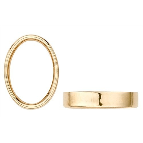 14K Yellow Gold Oval Bezel Non-Faceted