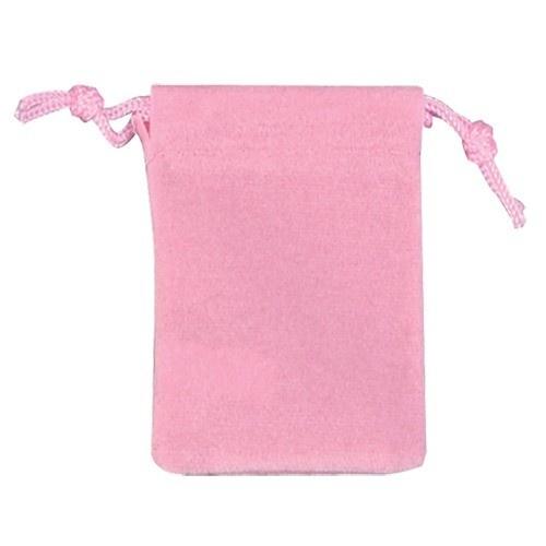 """Pink Velour Drawstring Pouches, 3.5"""" L X 4.5"""" w"""
