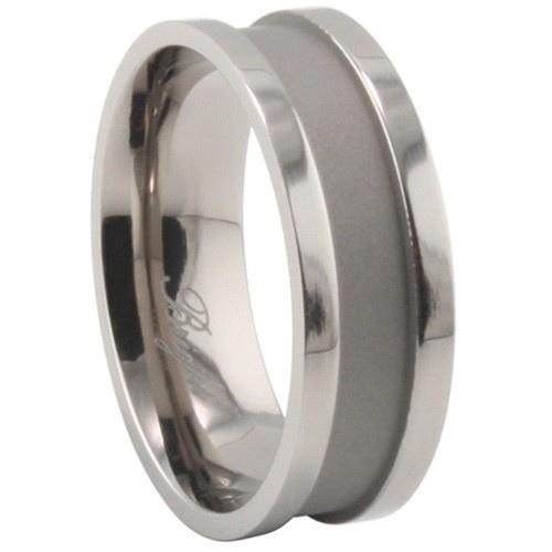 Titanium Ring W/ Combination Matte & Shiny Polish
