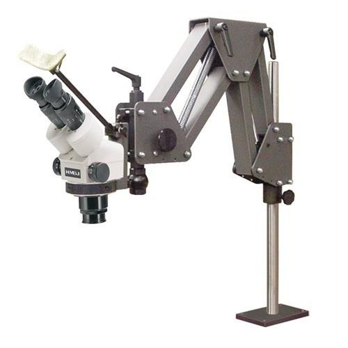 Meiji Microscope & Ring Light On Grs® Acrobat Stand