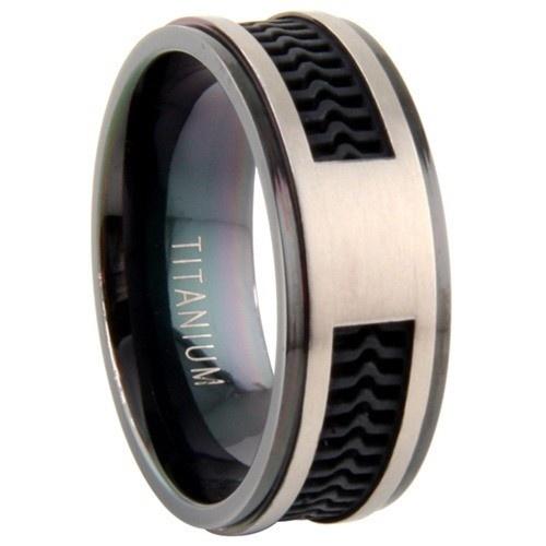 Titanium Ring W/ Rubber