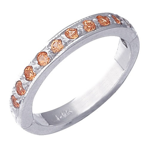 14K White Gold Tsavorite Toe Ring