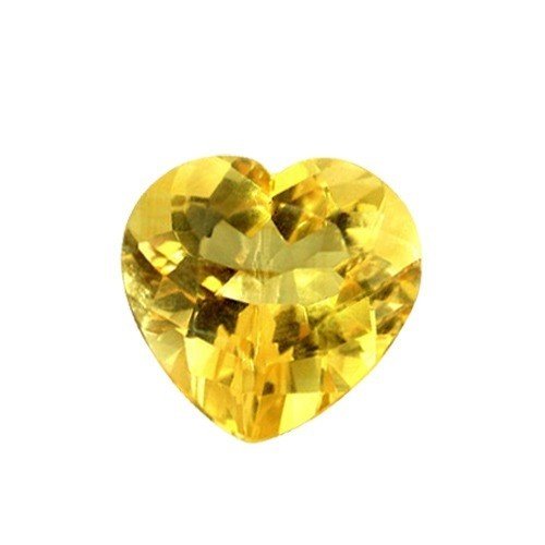 Heart Shape Synthetic Yellow Topaz
