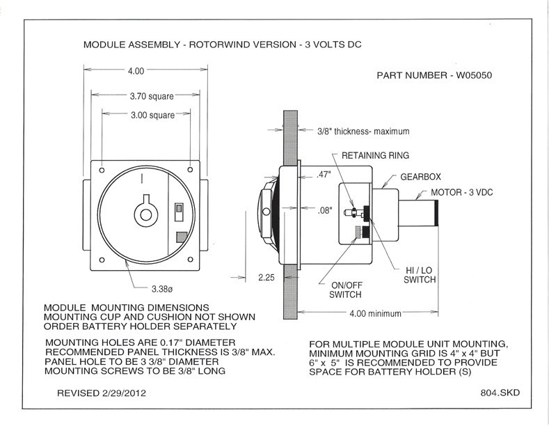 Orbita Diy Single 6 V Rotorwind® Watch Winder Module