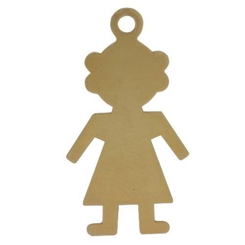 14k Yellow Girl Silhouette, Charm