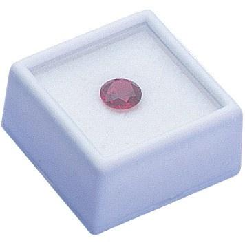 Square Glass-Top Gem Boxes W/Reversible Flat-Foam Insert
