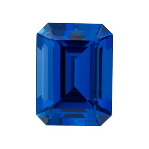 Emerald Cut Synthetic Sapphire