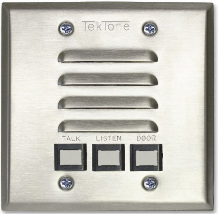 4 Wire-2 Gang Apt Station-stst. Uses Sk017 Replacement Spkrs. Fits On 2-gang Electrical Box Or Plaster Mounting Ring.