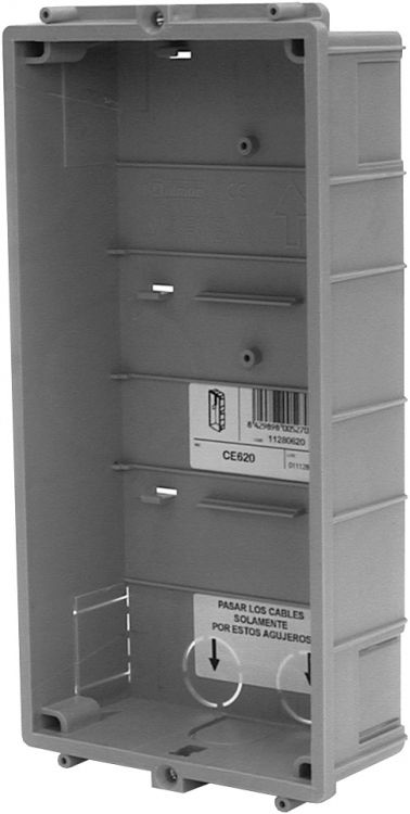 Gb2 Flush Back Box, 2-module. For Use With Stainless Steel Nexa Type Panels.