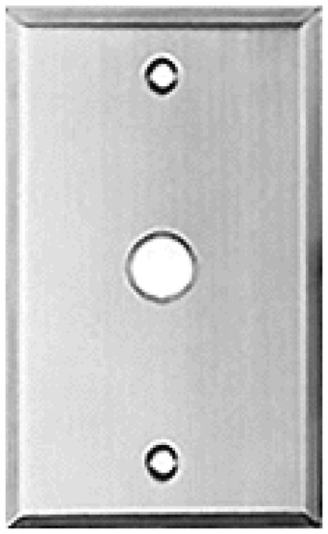 """1 Gang St. Steel Plate-5/8"""" Hl. Used With 45a Or Equivalent 5/8"""" Diameter Pushbutton."""