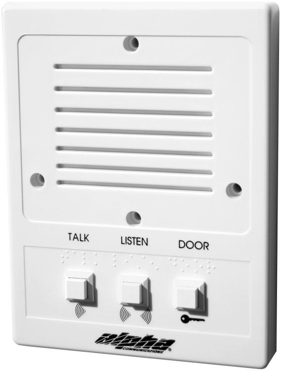 """""""universal"""" Intercom Station For 5-wire, 4-wire Or 3-wire Systems. Versatile Plastic Intercom Station For Use With Ia543, Pk543 Or Pk543a Amplifiers.."""