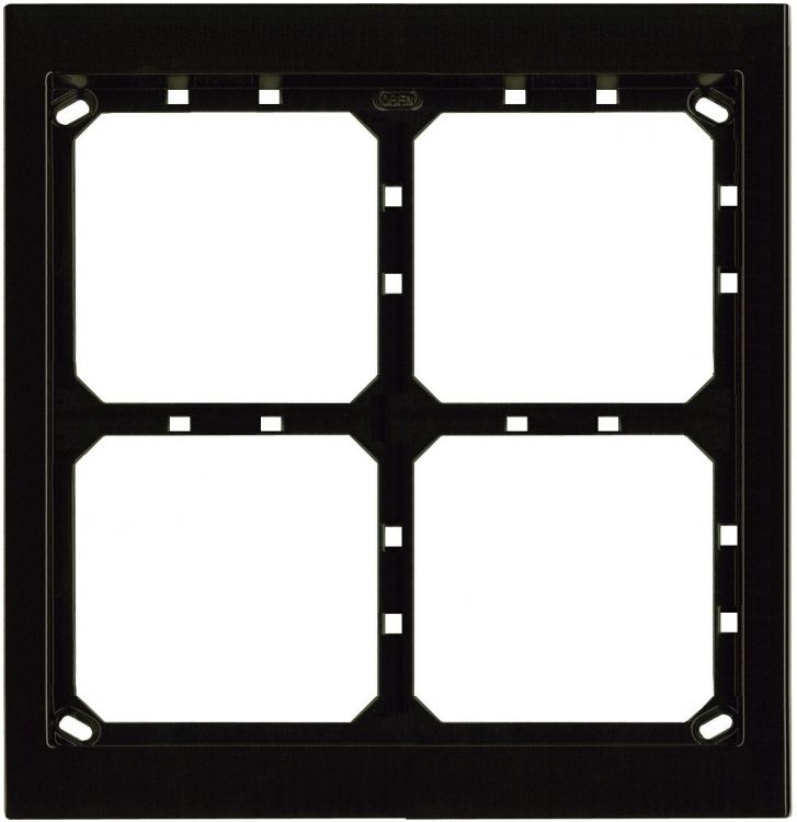 2hx2w Module Panel Frame-brown. Requires Upg4/2 Flush Box Or Apg4/2b Surface Box Includes 4 Mvrb Locking Strips.