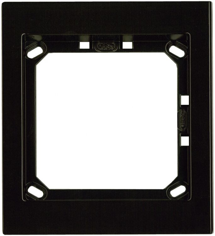 1hx1w Module Panel Frame-brown. Requires Upg1 Flush Box Or Apg1b Surface Box Includes 1 Mvrb Locking Strip.