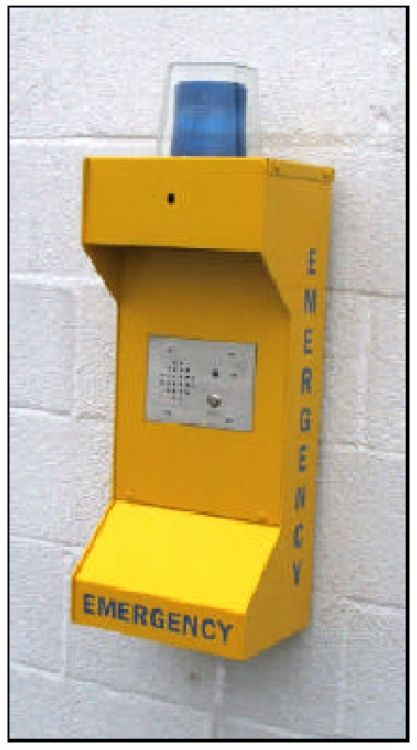 Emergency Call Station Housing. Requires 3-gang Emergency Remote Station And An900 (or Equivalent) Module.