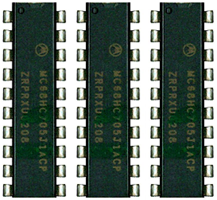 3-ic Chip Set For 3- Ht3011's. Use With 3- Ht3011 Handsets To Allow Them To Be Connected In Parallel In 1 Apartment.