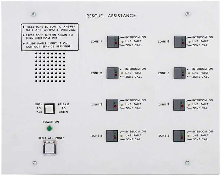 8 Unit Area Of Rescue Mast-Aud. Requires Bb-41 Flush Back Box. Used With #4201B/V Or 4201B/Vm Call-In Remote Stations