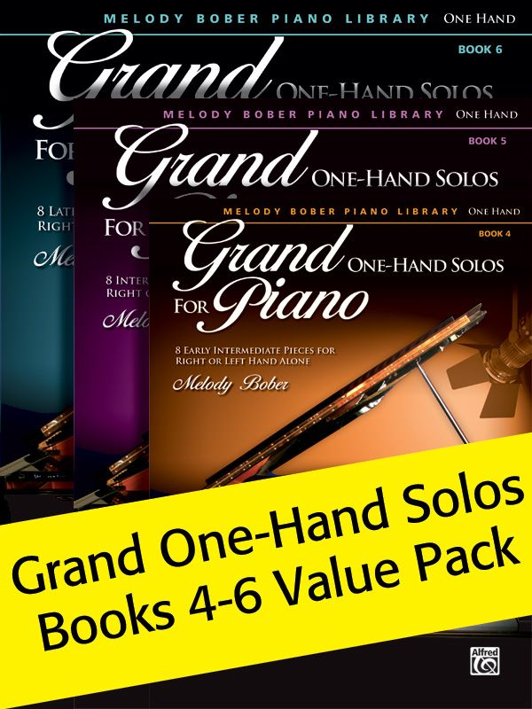 Grand One-hand Solos Books 4-6 (value Pack)