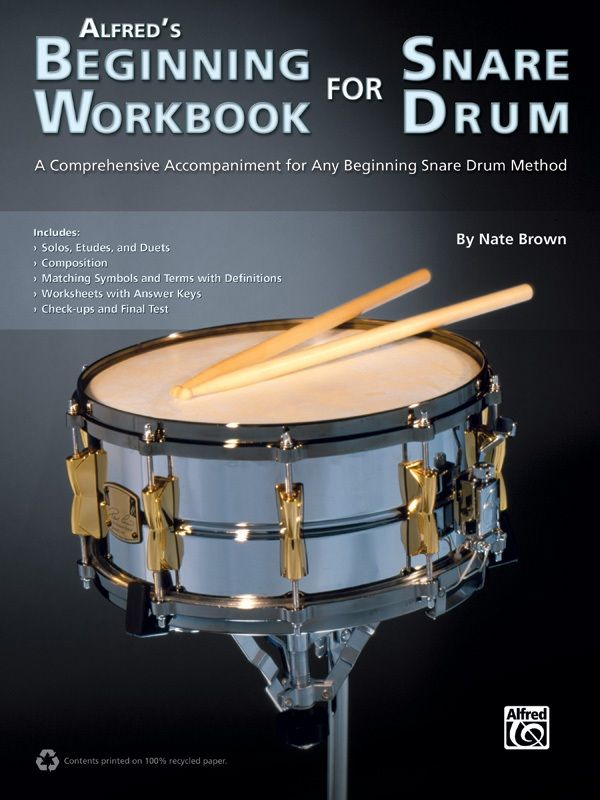 Alfred's Beginning Workbook For Snare Drum