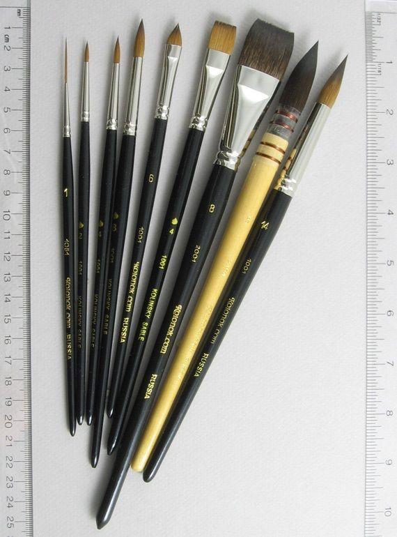 Trinity Brush Inspiration Set of 9 Art Brushes