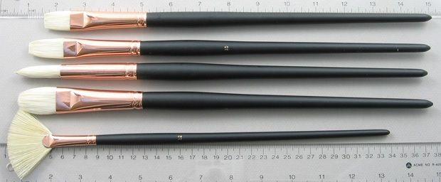 Trinity Brush Bodarevsky Set of 5 Hog Bristle Art Brushes