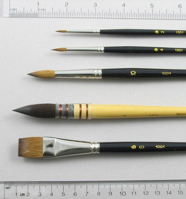 Trinity Brush Watercolor Set of 5 Art Brushes