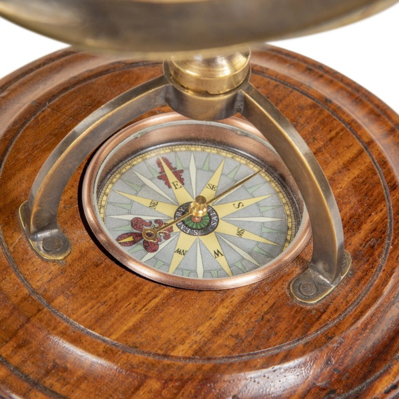 Terrestrial Globe With Compass