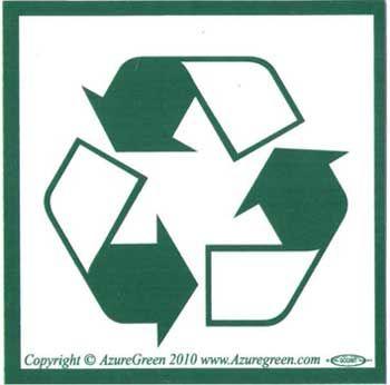 Recycle Symbol Bumper Sticker