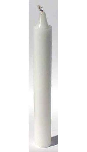 """White 6"""" Taper Candle"""