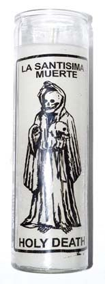 Holy Death White 7 Day Jar Candle