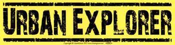 Urban Explorer Bumper Sticker